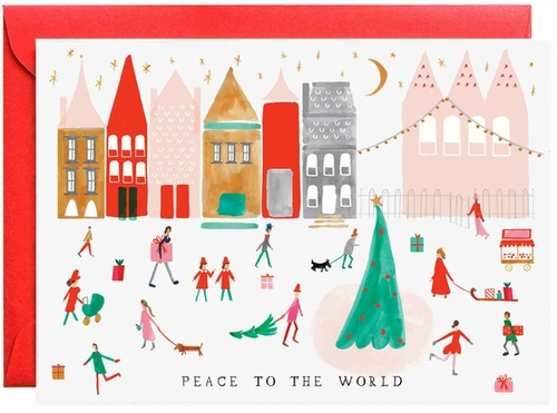 Peace to the Whole World Greeting Card