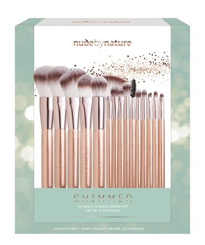 Nude By Nature Shimmer Ultimate 15 Piece Brush Set
