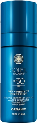 Soleil Toujours Organic Set + Protect Micro Mist SPF 30