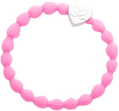 By Eloise Silver Heart Lock Soft Pink