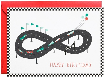 Mr. Boddington Start Your Engines Greeting Card