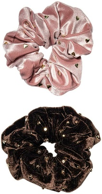 Lele Sadoughi Set Of 2 Embellished Oversized Scrunchies