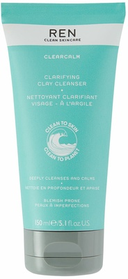 Ren Clean Skincare Clear Calm 3  Clarifying Clay Cleanser