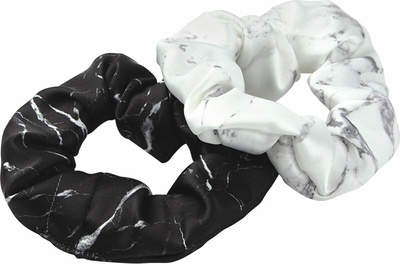Wouf White Marble & Black Marble Scrunchies