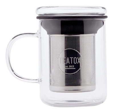 Teatox Glass Tea Mug mit Teesieb