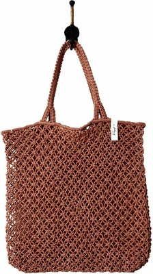 The Beach People Marcrame Bag - Rust