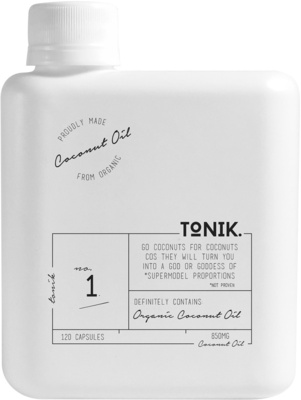 The Tonik Organic Coconut Oil Capsules 120 CAPSULES