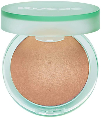 Kosas The Sun Show Moisturizing Baked Bronzer Deep Warm Dark Bronze