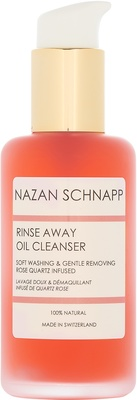 Nazan Schnapp Rinse Away Oil Cleanser Soft Washing & Gentle Removing Rose Quartz Infused