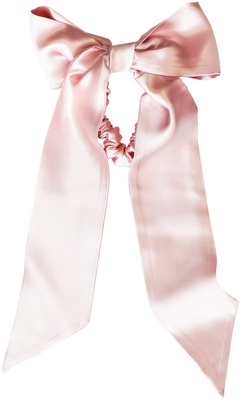 Slip Pure Silk Ribbon & Midi Scrunchi Set Pink