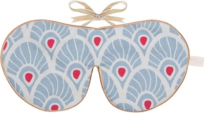 Holistic Silk Limited Edition Eye Mask Forget Me Knot Feather