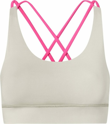 Hey Honey Criss-Cross Bra Clay Pink S