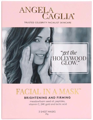 Angela Caglia Facial In A Mask