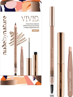 Nude by Nature VIVID 3 Piece Brow Collection - BLONDE