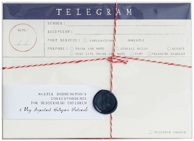 Mr. Boddington Telegram Postcards