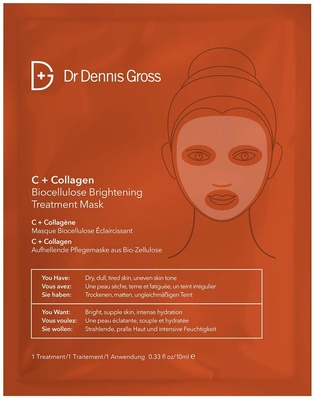 Dr Dennis Gross C+Collagen Biocellulose Brightening Treatment Mask