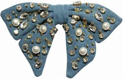 Lele Sadoughi Pearl And Crystal Oversized Bow Barrette