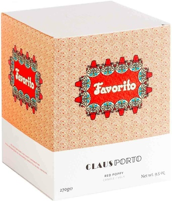 Claus Porto Favorito Red Poppy Candle
