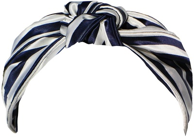 Slip Pure Silk Knot Headband Navy Stripe