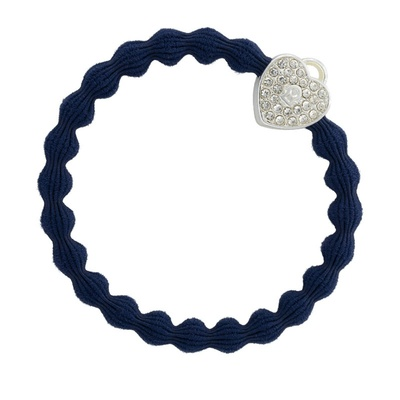By Eloise Silver Heart Lock Navy