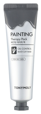 Tonymoly Painting Therapy Oil Control Black Color Clay