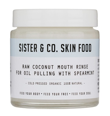 Sister & Co Raw Coconut Mouth Rinse for Oil Pulling with Spearmint