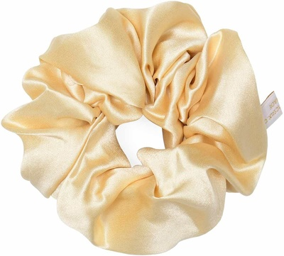 Holistic Silk Pure Silk Scrunchie Cream
