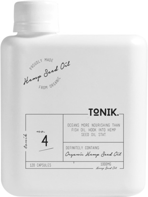 The Tonik Organic Hemp Seed Oil Capsules 120 CAPSULES