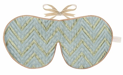 Holistic Silk Limited Edition Eye Mask Jade Chevron