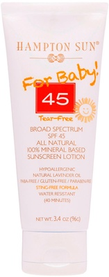 Hampton Sun SPF 45 Natural Sunscreen Lotion for Baby's