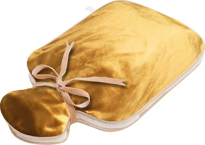 Holistic Silk Hot Water Bottle Gold Silk Velvet