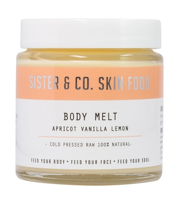 sisterco Body Melt with Apricot, Vanilla & Lemon