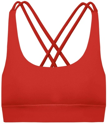 Hey Honey Criss-Cross Bra Chinese Red S