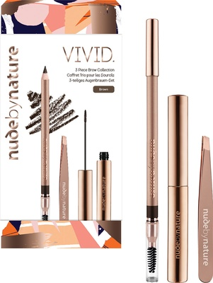 Nude by Nature VIVID 3 Piece Brow Collection - BROWN