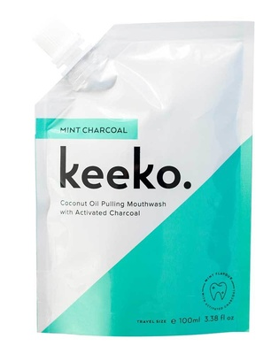 Keeko Mint Charcoal Oil Pulling Mouthwash