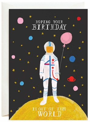 Mr. Boddington Out of This World Greeting Card