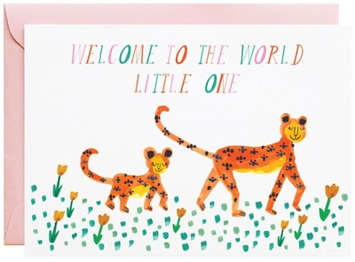 Mr. Boddington Mummy Leopard Greeting Card