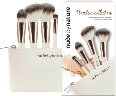 Nude By Nature Flawless Collection - 4 Piece Complexion Brush Set