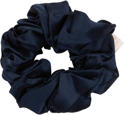 Holistic Silk Pure Mulberry Silk Scrunchie Navy